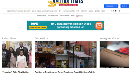 News website, New York, USA